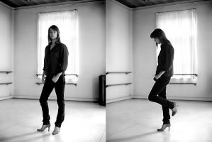 carole in the dance room by bowi