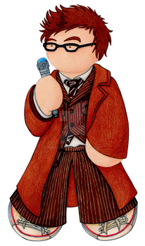 10th Doctor Plushie by Rana-chan