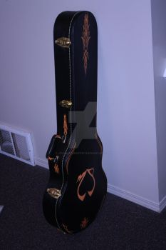 guitar case pinstriped by JThomastheartist13