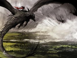 The warrior and the dragon by yonax