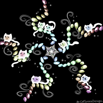 Rainbow Cat Galaxy by CatSpaceDesign