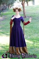 Purple Red and Gold Medieval Gown by DaisyViktoria