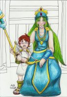 NES Pit and Palutena by TwilightMoon1996