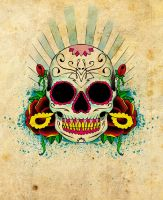Sugar skull by xfreakcorex