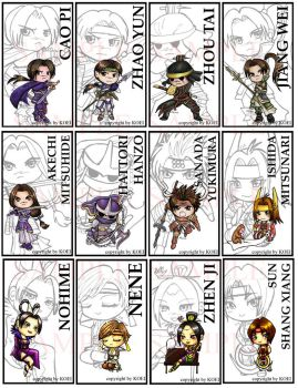 Warriors Orochi Bookmarks by VulpineNinja