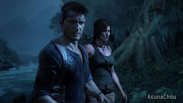 Lara Croft And Nathan Drake: Explore Uncharted4athiefsend On