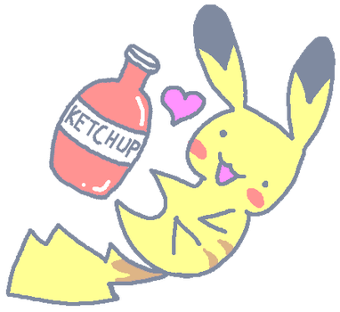 .:doodle:. Pikachu and his Love by AudioOutput