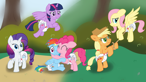 Padded Mane 6 by Hourglass-Sands