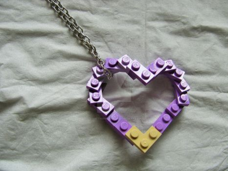 Piece by piece, I'll build your heart, a Lego hear by SomethingTeal