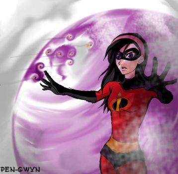 4 of 10: Violet Parr by pen-gwyn