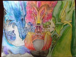 Rayearth's Magic Knights United by Le-Doodler