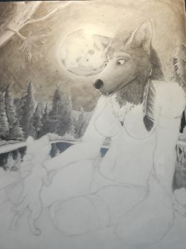 Mother Werewolf(AKA Project_Selenite)[In Progress] by SnowblindOtter