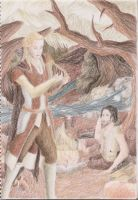 Finrod and the Edain by PyriteWolf