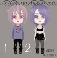 Adoptables grunge chibi doll Collection Open 2 by cynthilog