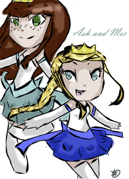 Ash And Mel by AreWeHumanOrDancers
