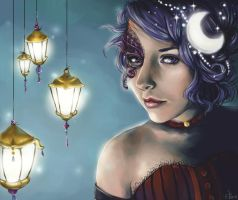 .Lady of the Night - Commish. by Lii-chan