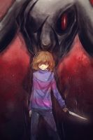 Undertale/Chara and Asriel by VANSIk