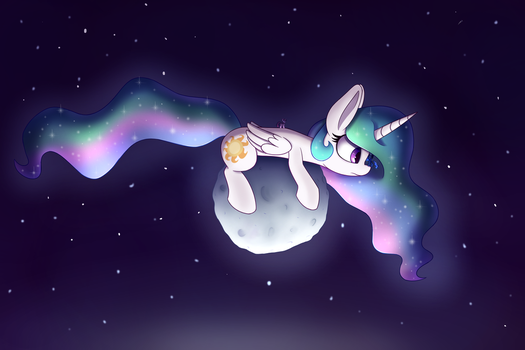 The Mares on the Moon by Heir-of-Rick