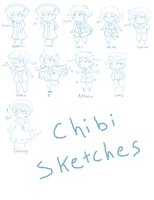 Chibi sketches of DA friends (muses) by Blissyanya