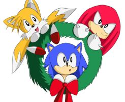 Team Sonic Christmas Wreath by Lucky-Sonic-77-d