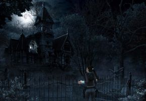 Exploring the Haunted Mansion by crimsomnia