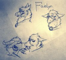 Late night sketches- Faelyn by Inked-Alpha