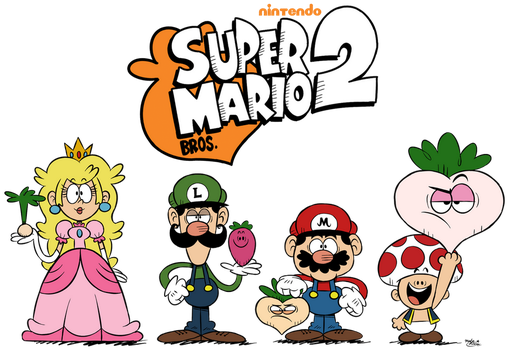 ''LOUD HOUSE'' Style: Super Mario Bros. 2! by Master-Rainbow