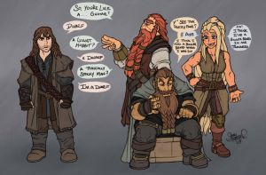 How is Kili a Dwarf? by thethrash87