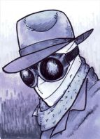 Invisible Man ACEO Sketch Card by JesseAcosta