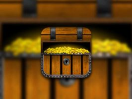 Treasure Chest iPhone Icon by chris3290
