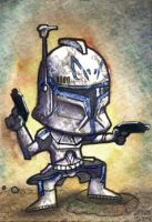 Captain Rex Chibi Sketch Card by geralddedios