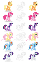 The Main/Mane Six by EvilTurnover
