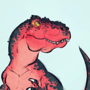 Devil Dinosaur by Clairictures