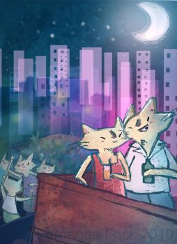 Cat city - Party by FernandaFrick