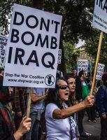 25-09-2014 - 'DON'T bomb Syria' Protest - London. by LouHartphotography