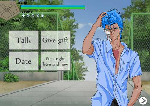 Preview2: Grimmjow, dating sim by FreakinMi