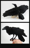 Needle-Felted Raven by GlassCamel