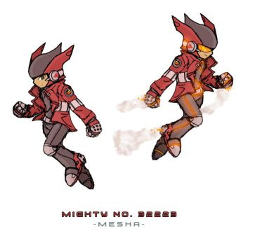 Mighty No. 23332 Mesha by OuKazma