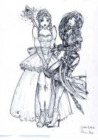 Snow White and Rose Red by karza