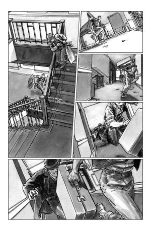 deadball noir comic pg3 chase scene by carbono14