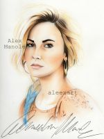 Demi Lovato (teen vogue) by aleexart