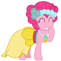 Collab Piece - Pinkie (Canterlot Wedding Outfit) by DrFatalChunk