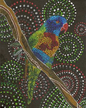 Rainbow Lorikeet Aussie Art by LyrebirdJacki