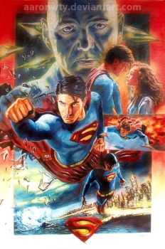 Superman Returns movie poster by aaronwty