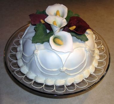 Calla Lily Cake by DancesWithWacom