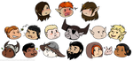 Dragon Age: Inquisition - Chibi Companions by StupidFlyingXXFOX