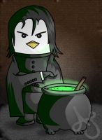 HP Penguins- Snape by Akei-Tyrian