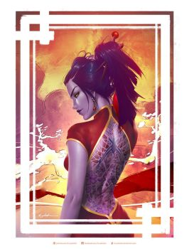 Year of the Rooster Widowmaker by krysdecker