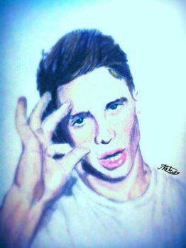 Joe Weller Colour Pencil drawing by ZeddiXTree