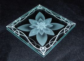 Lotus etched angle view by ImaginedGlass
